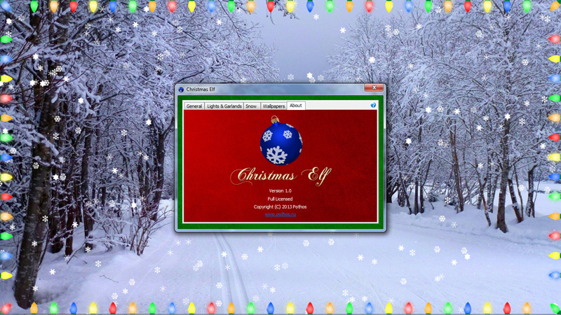 Скриншот программы Christmas Elf