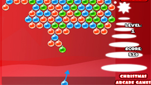 Скриншот flash-игры Christmas Bubble Shooter