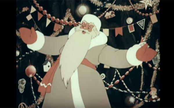 Кадр из сборника новогодних мультфильмов «Праздник новогодней ёлки»
